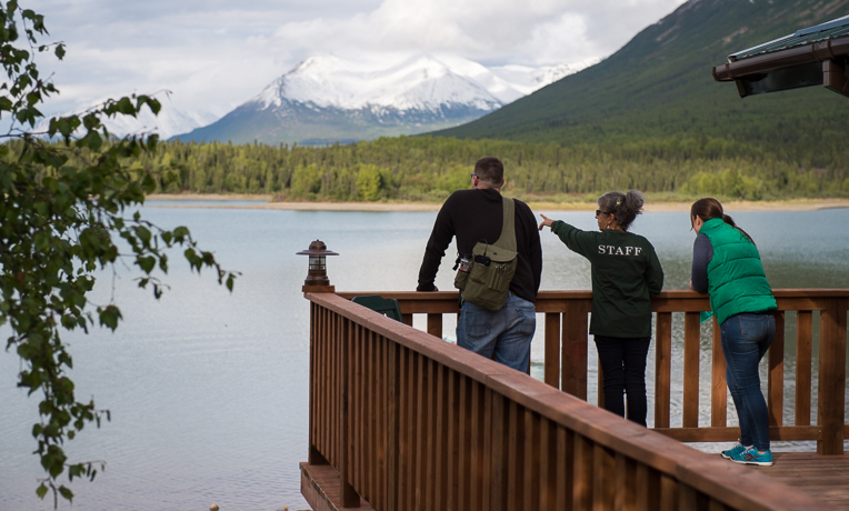The beauty of the Alaska wilderness provides a breathtaking backdrop for the couples.