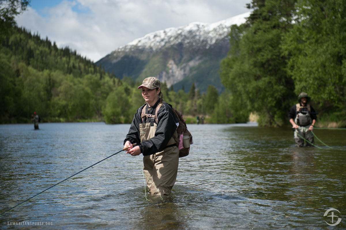"""A person can learn a lot about marriage from fishing. One day during the week Stacey Kelley hooked the same fish four times before finally catching it. """"When the fish went into murky water,"""" she said, """"I didn't give up at that moment, even though I was unable to see the future of the fish or anything."""""""