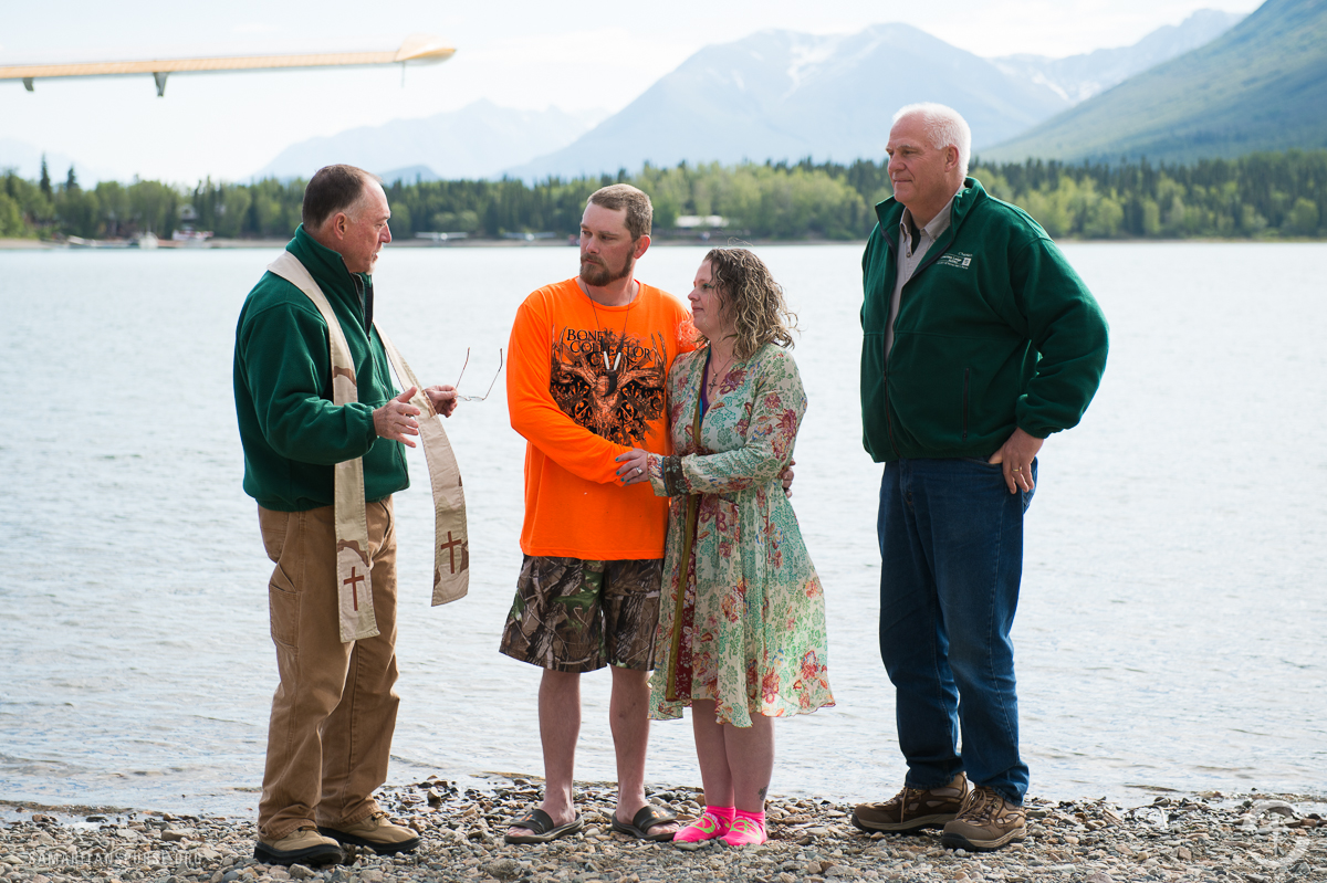 """The Kelleys both trusted Jesus Christ as Lord and Savior during the marriage retreat. They were baptized the next day in the chilling waters of Lake Clark. """"This has been a life-changing experience,"""" Stacey said. """"Jesus brought us here."""""""