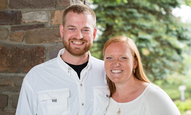 Dr. Kent Brantly with his wife, Amber.