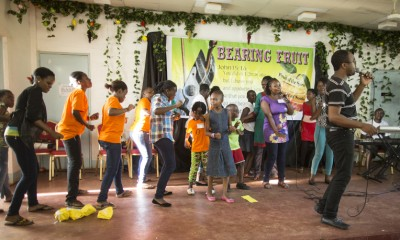 On the last day of camp, the campers¹ parents came to visit. The children performed for their parents on stage to show them what they had learned during the week.