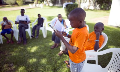 Small group discussions give each child the chance to learn about Christ and to read directly from the Bible in his or her native language.