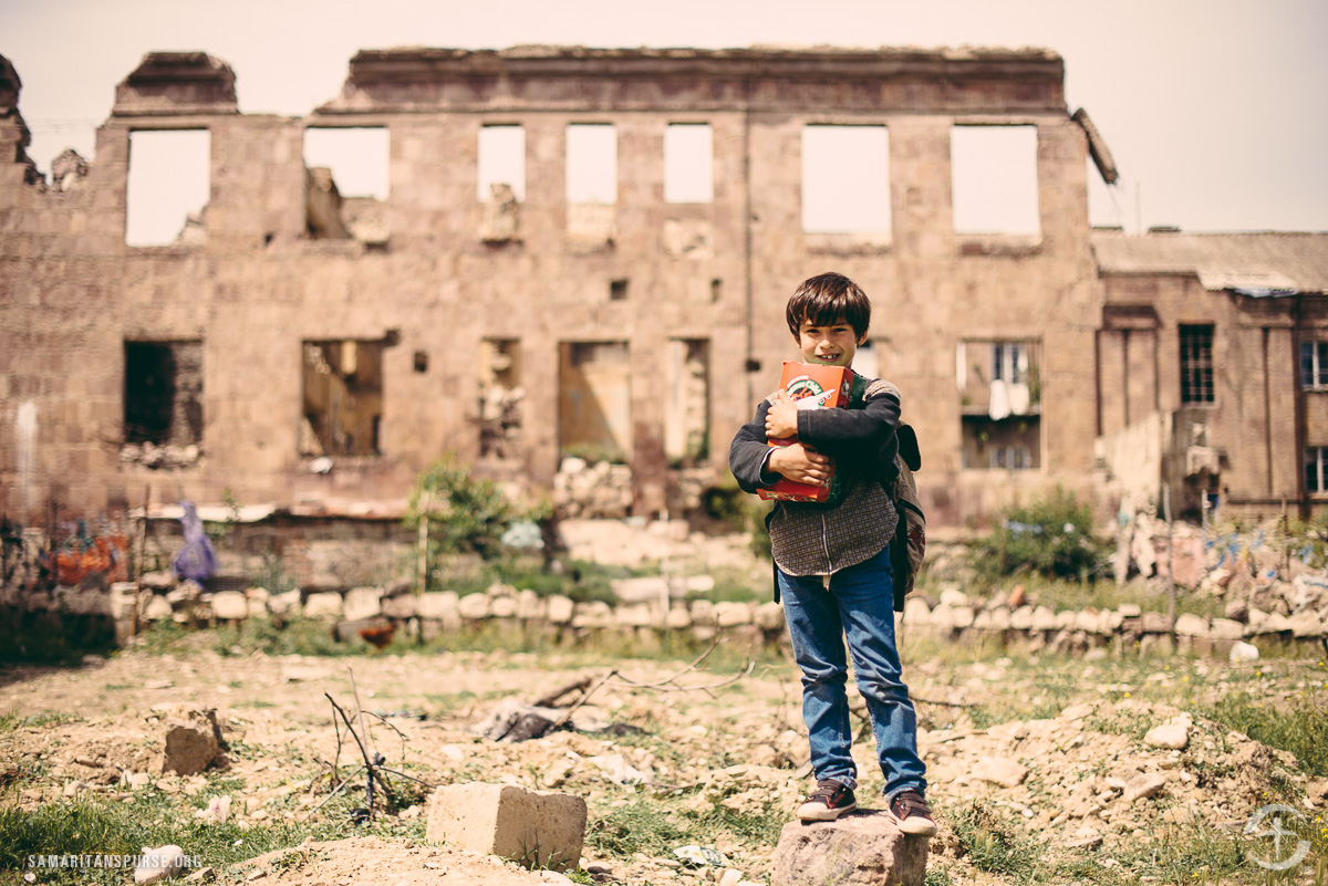 Many buildings in Vaziani are shells of ruins. Some have fallen because they aren't structurally sound. Others were bombed. Children said they live in fear that their own buildings will collapse on them