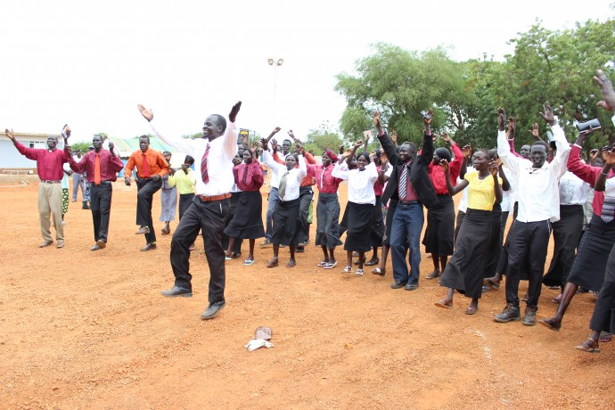 A choir greeted guests with songs of welcome and joy before the dedication of our new hospital wing in South Sudan.