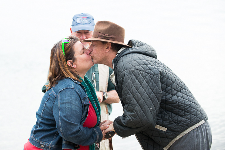 Retired Army Sergeant George Wilmot and his wife Jenn rededicated their marriage while in Alaska, sealing it with a kiss. They also placed their faith in Christ as Lord and Savior during the week. George was in a terrible Humvee accident outside Mosul, Iraq, in November 2009. His left arm was severely injured; he also suffered a traumatic brain injury and a crushed lower back.