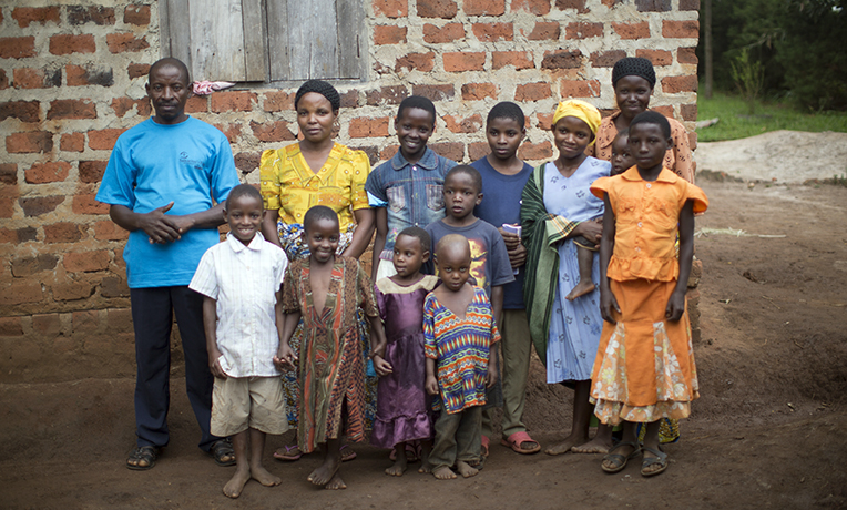 Emmanuel, Priscilla, and their 11 children are thankful to have a clean water source close by. It allows Emmanuel and Priscilla to have time to work, and it keeps their children from diseases.