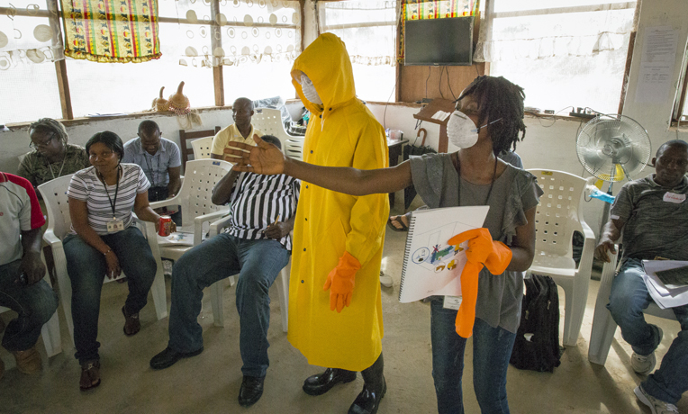 Samaritan's Purse is providing equipment and training to enable people in Liberia to care for family members with Ebola.