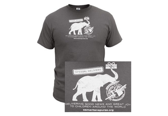 Operation Christmas Child Elephant Delivery Adult T-Shirt