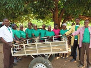 Health workers trained by Samaritan's Purse use carts to transport women to the health centers.