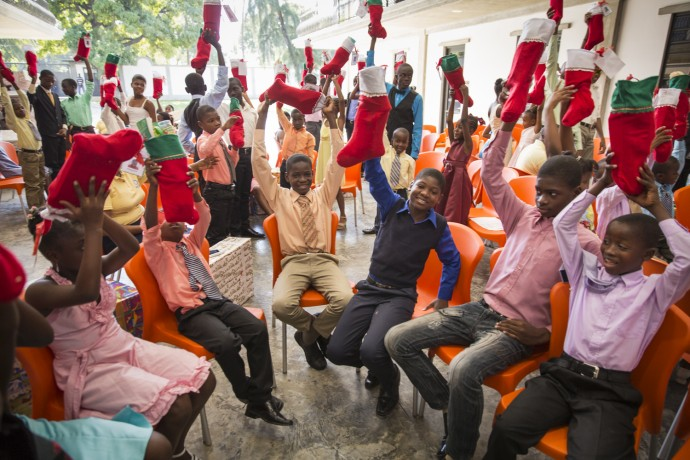 Celebrating Christmas with Greta Home Children
