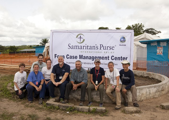 Earlier this summer, Bev, Kendell, and a number of our staff paused for a moment in front of our Ebola case management center in Foya. They are just a few of the courageous men and women who have served in Liberia with Samaritan's Purse during the Ebola crisis.