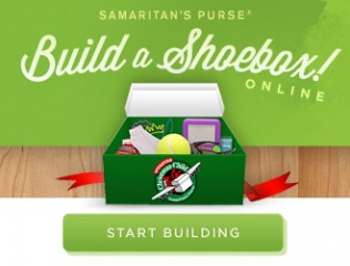 You can help children in northern Iraq by building a shoebox online.