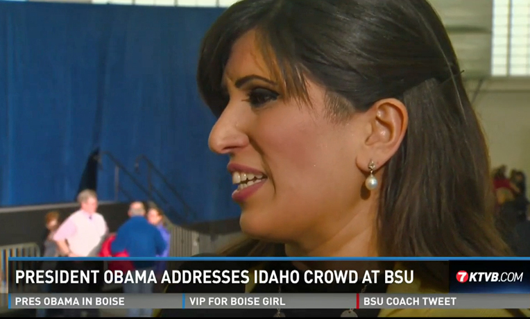 Naghmeh Abedini talks about her meeting with President Obama in an interview with KTVB.