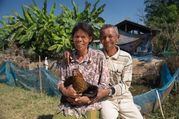 When we met Chan Ten My's family, they were considering unsafely migrating out of desperation for income. After receiving chickens and training through our program, they now have the option to stay home and provide for their needs.