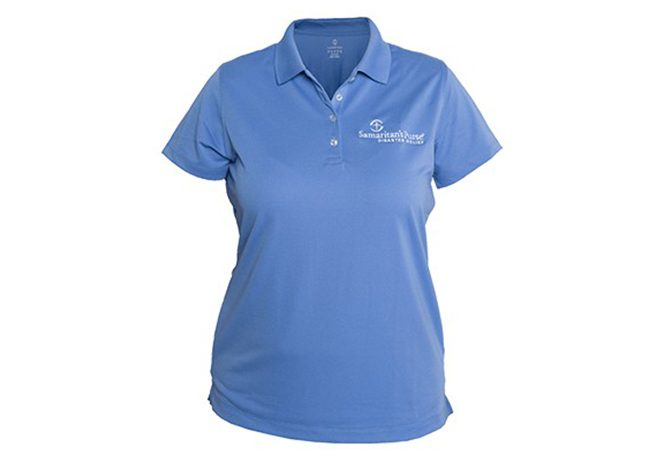 womens disaster relief polo