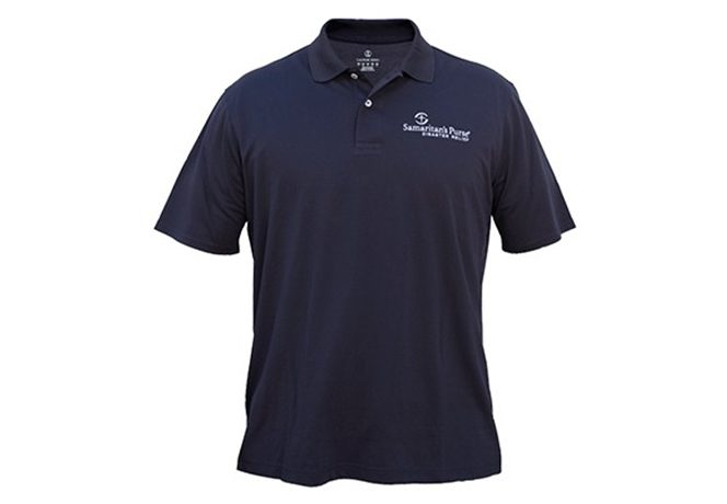 male disaster relief polo