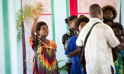 Easter Sunday service at Calvary Life Church on Tanna Island