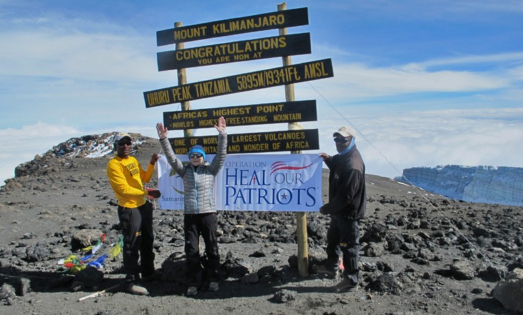 Operation Heal Our Patriots mountain climb