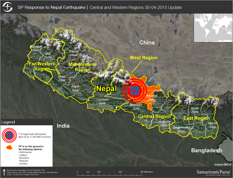 Nepal earthquake response