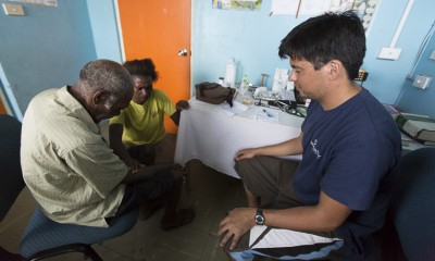 SP medical team treating patients at Lenakel Hospital on Tanna Island