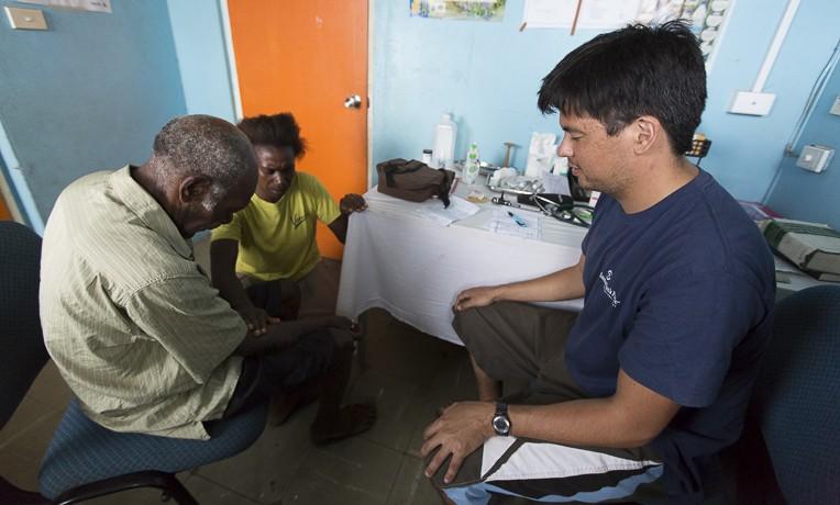 SP medical team treating patients at Lenakel Hospital on Tanna Island