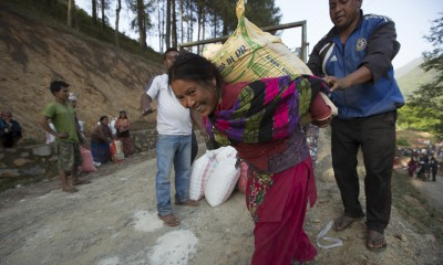 Nepal earthquake food