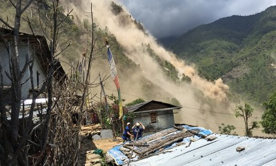 Remote Assessment Team - May 12 Earthquake Landslide
