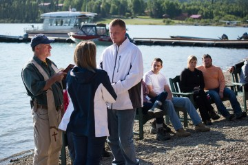 "Marine Corporal Patrick Patton and his wife Samantha of Tallmadge, Ohio, rededicated their marriage on the shores of Lake Clark. ""I feel it's given us a chance to reset and time to focus on each other,"" Patrick said of their experience in Alaska."