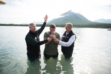 Ivan was also baptized in Lake Clark.