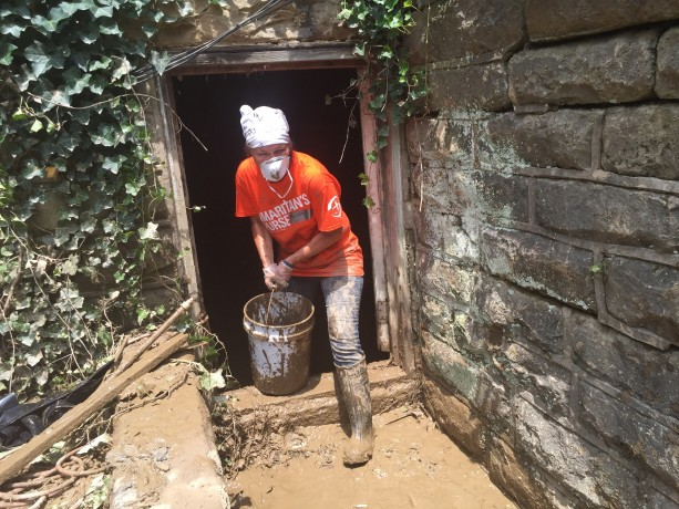 "Belinda Christensen, from Michigan, is volunteering for the first time with Samaritan's Purse and loves it. ""You make the best of every situation, and you go out and do it,"" she said of our Kentucky response. ""The work is hard. There is no doubt about it, but what a joy."""