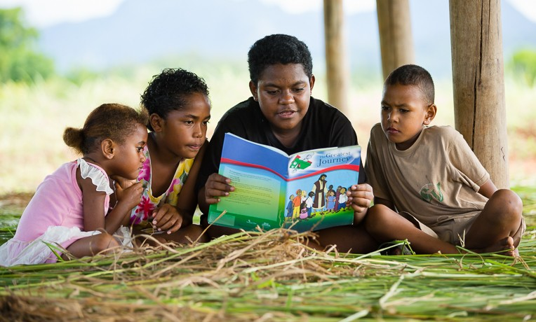 Children in Fiji are learning to follow Christ through our Bible-based curriculum, The Greatest Journey.