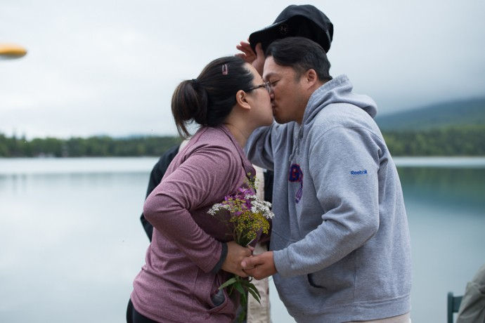 Ron and Michelle Yi rededicated their marriage on the shores of Lake Clark.