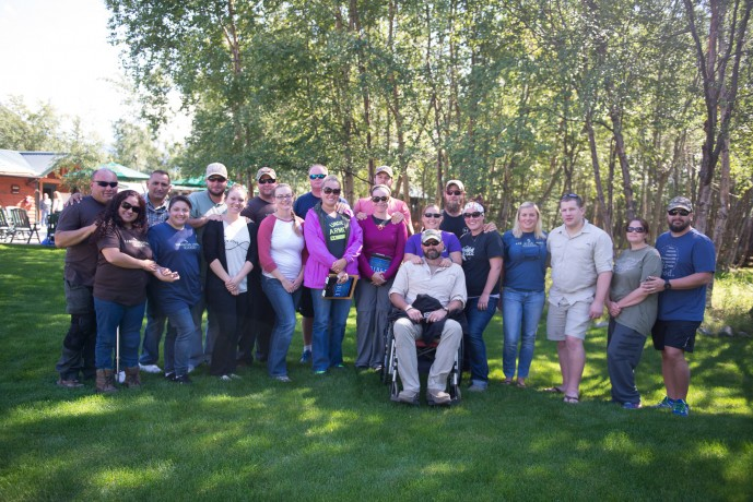 Ten military couples went through marriage enrichment training in Week Nine. They enjoyed a variety of outdoor activities together and listened to daily Bible-based teaching from our retired military chaplains.  Each couple has had at least one spouse injured in combat or combat-related actions  after 9/11.