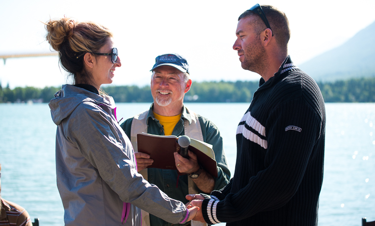 John and Amanda Margaritondo renewed their vows in Alaska.