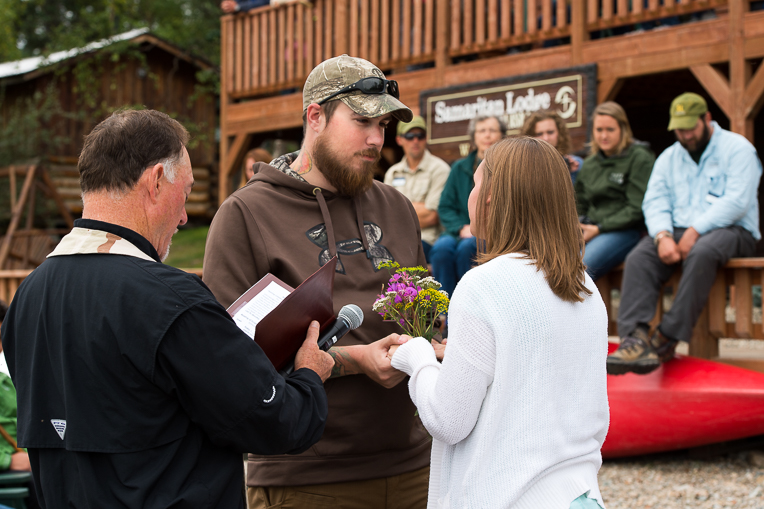Joe and Heather Silvestri rededicated their marriage to Christ and each other while in Alaska.