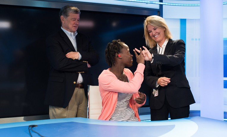 Greta Van Susteren and her husband, John Coale, spearheaded efforts to bring Sabrina to the United States for hearing assessments.