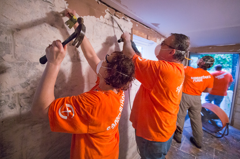Samaritan's Purse volunteers are hard at work helping homeowners throughout Columbia as they recover in the wake of serious flooding.