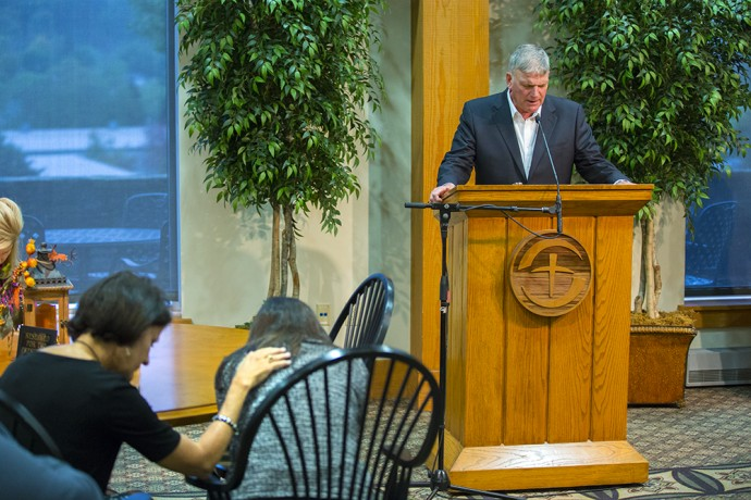 Franklin Graham and others prayed for the Abedini family today in Boone, North Carolina.