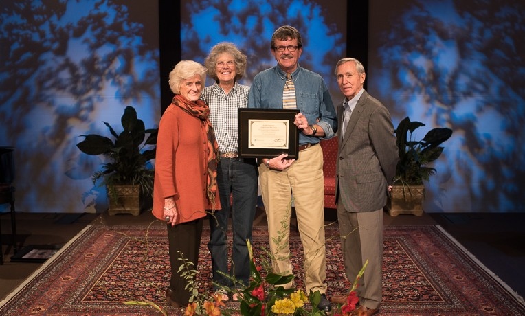 "Dr. Sam Williams and his wife Liz were the recipients of the 2015 ""In the Footsteps of the Great Physician"" award. The couple was recognized for 25 years of service by Dr. Richard Furman and Becky Williams of World Medical Mission."