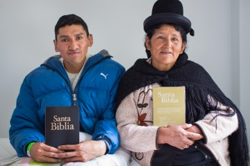 Edson and his mother Modesta received the Lord Jesus Christ during our Cleft Lip and Palate Project campaign in La Paz, Bolivia. They were given Bibles and Christian literature in Spanish.