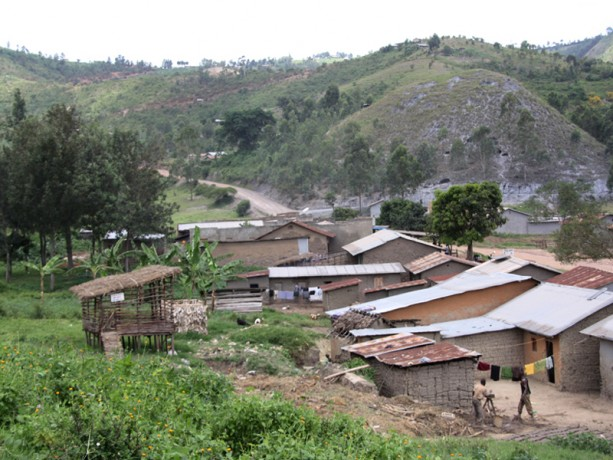 This is Florine's small village. Her goat shelter is the structure on the left.
