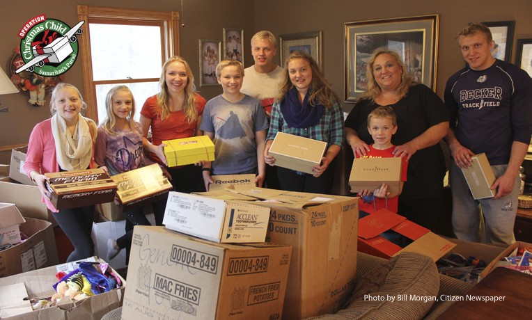 Packing Operation Christmas Child shoeboxes has become a passion for the whole Friedman family.