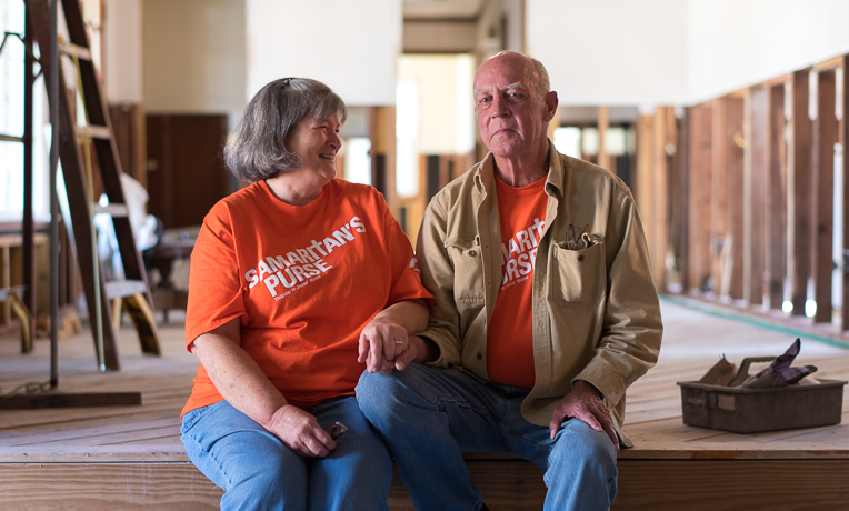 Alexander and Mary Ellen Fishburne are celebrating Alexander's conversion to Christ. He accepted the Lord as chaplains shared the Gospel with him during our initial flood response. We completely gutted the house from four feet down and will now install new drywall, insulation, cabinets, flooring, and appliances.