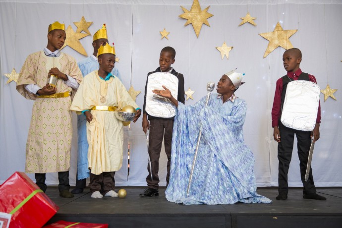 Christmas play at Greta Home and Academy in Haiti