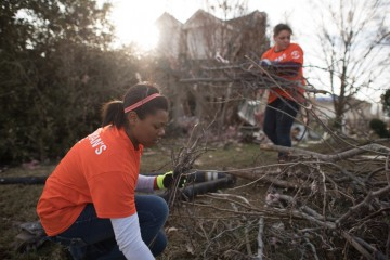 in the wake of tornados Samaritan's Purse helps Dallas