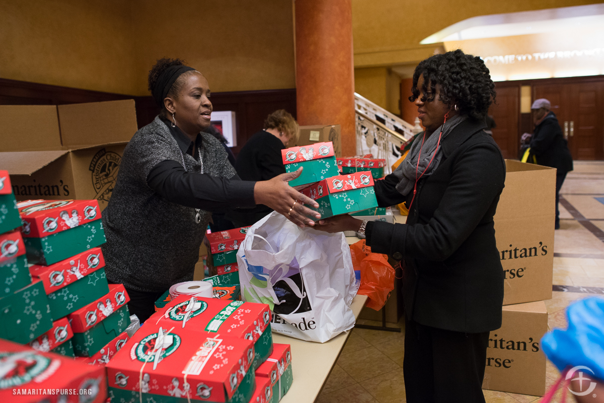 Shoebox Dropoff at Brooklyn Tabernacle