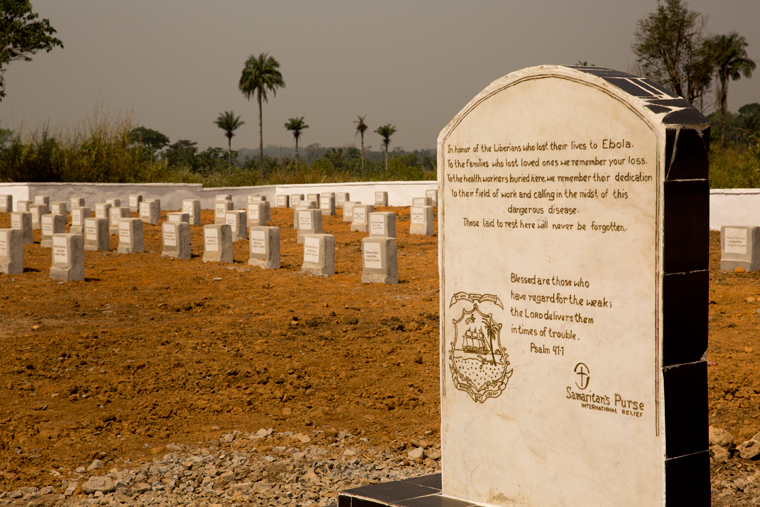 The Ebola Memorial Cemetery in Foya, Liberia.