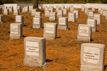 The Ebola Memorial Cemetery in Foya, Liberia
