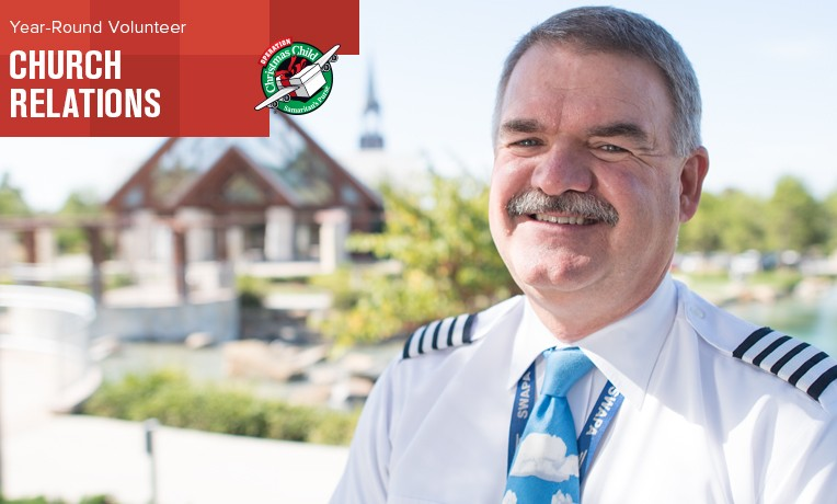Bob Pattison, airline pilot and Operation Christmas Child year-round volunteer.