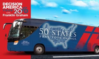 Decision America Tour bus, Franklin Graham